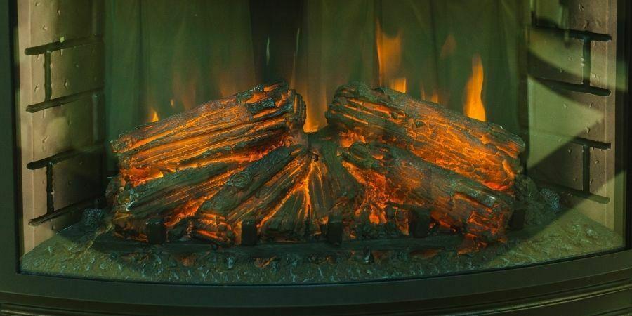 chimenea electrica llama decorativa